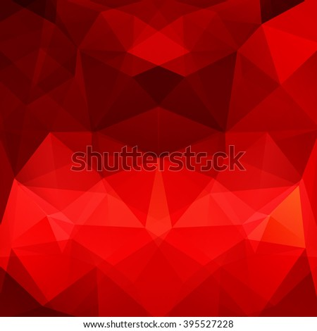 Background made of triangles.  Square composition with geometric shapes. Eps 10 Red, brown colors.  - stock vector