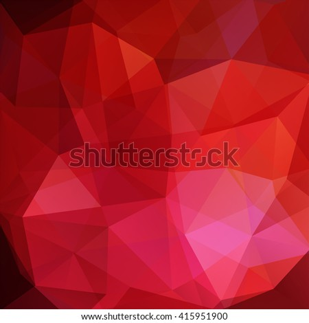 Background made of triangles. Square composition with geometric shapes. Eps 10 Red, pink, brown  colors.  - stock vector