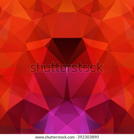 Background made of triangles.  Square composition with geometric shapes. Eps 10 Red, pink, colors.  - stock vector