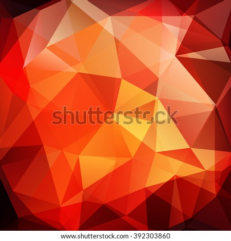 Background made of triangles. Square composition with geometric shapes. Eps 10. Yellow, red, orange colors.  - stock vector