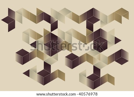 Background, main fills and top outlines are all on separate layers. Simple gradients are used for color. - stock vector