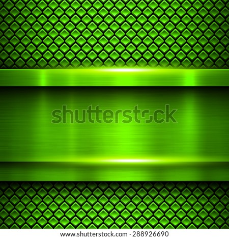 Background metallic green, vector metal texture. - stock vector