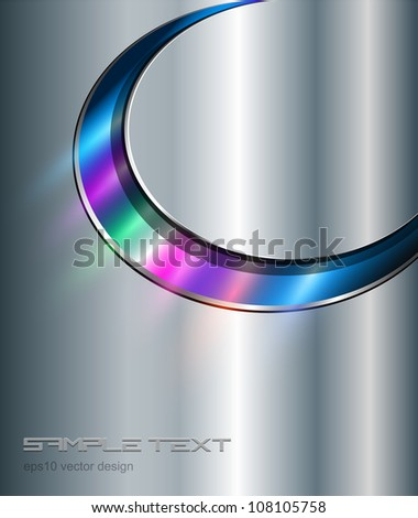 Background metallic with colorful lights, vector. - stock vector