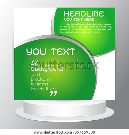 Background Modern abstract vector design green Brochures flyers business cards - stock vector
