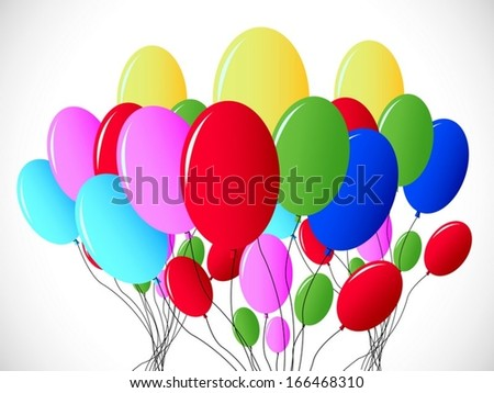 background multicolored balloons