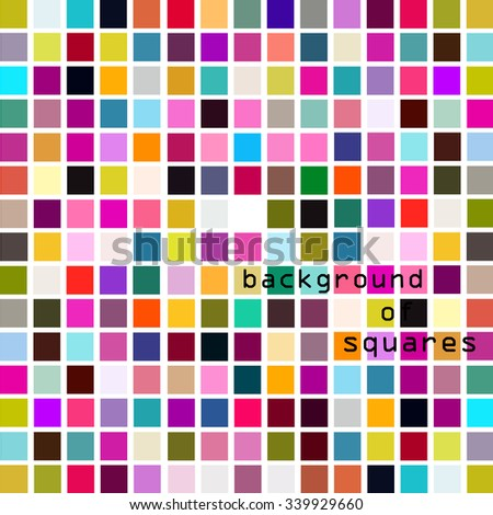 Background multicolored squares. Vector