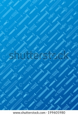 background nails and wall plugs collection - vector