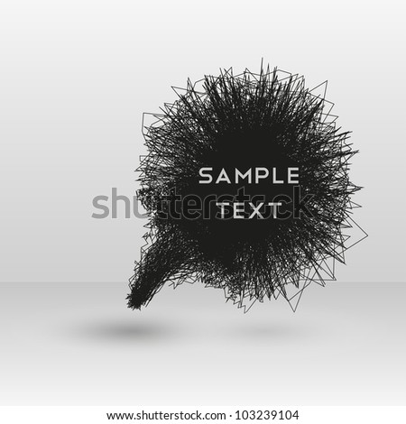 Background of abstract talking bubble - stock vector