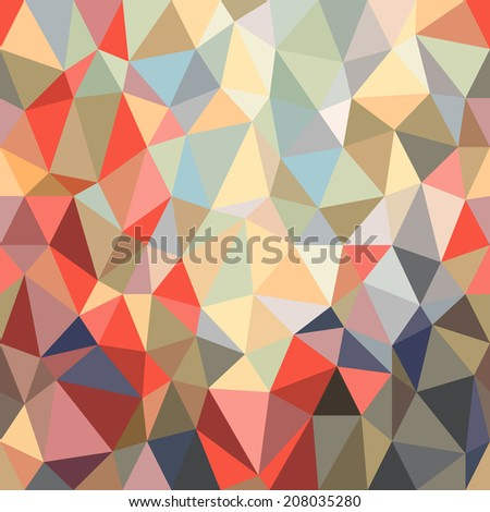 Background of brightly colored triangles of different shapes and sizes. Vector