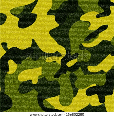 background of camouflage fabric - stock vector