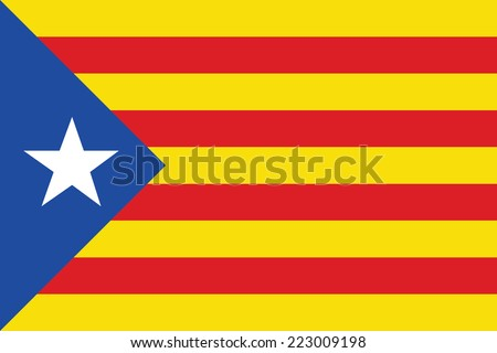 background of catalonia flag - stock vector