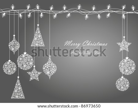 Background of Christmas lights ,christmas decorations 2 - stock vector