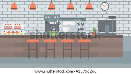 Background of coffee house. - stock vector