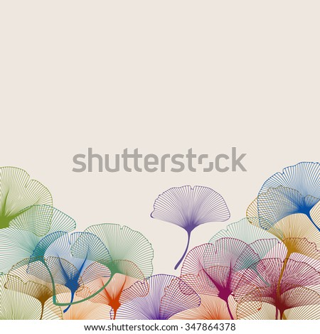 Background of colorful ginkgo leaves, eps10 vector - stock vector