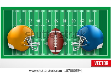 Background of competition teams in American Football. Vector illustration. - stock vector