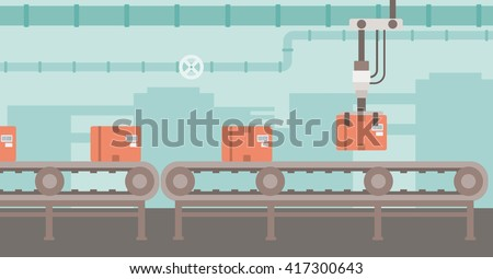 Background of conveyor belt.