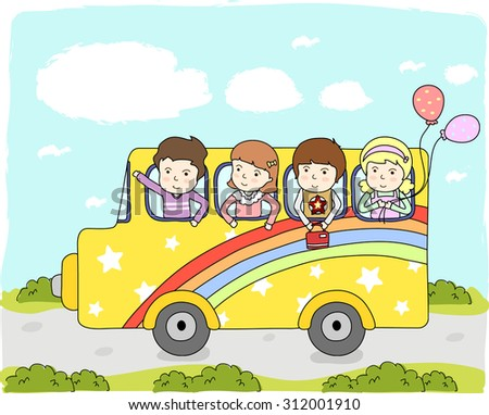 background of education for children with school bus