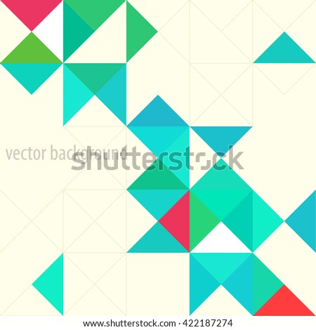 Background of geometric shapes. Colorful mosaic pattern. Triangle background - stock vector