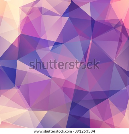 Background of geometric shapes. Colorful mosaic pattern. Vector EPS 10. Vector illustration. Pink, blue colors.  - stock vector
