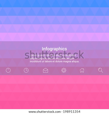 Background of geometric shapes with a place for text. Vector background with icons. Modern Design Minimal style infographic template layout. - stock vector