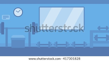 Background of gym with equipment. - stock vector