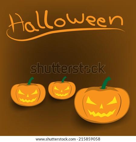 background of  Halloween Jack-o-lantern  - stock vector