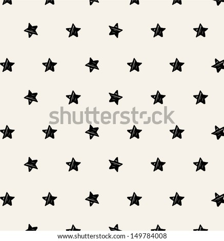 background of hand-drawn star - stock vector
