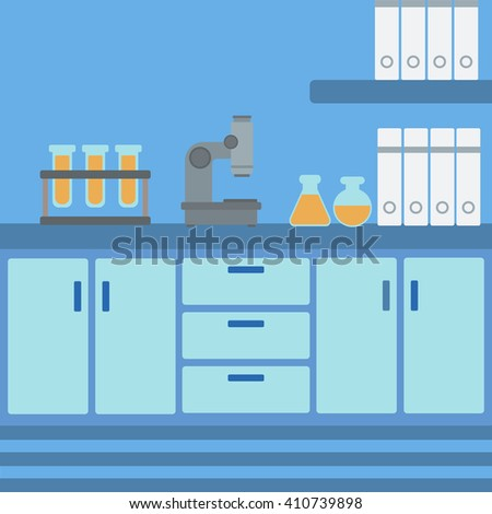 Background of laboratory interior.