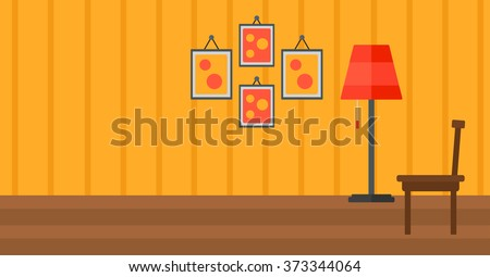 Background of living room. - stock vector