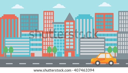Background of modern city. - stock vector