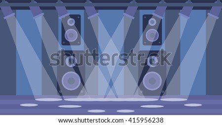 Background of night club. - stock vector