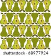 background of pears - stock vector