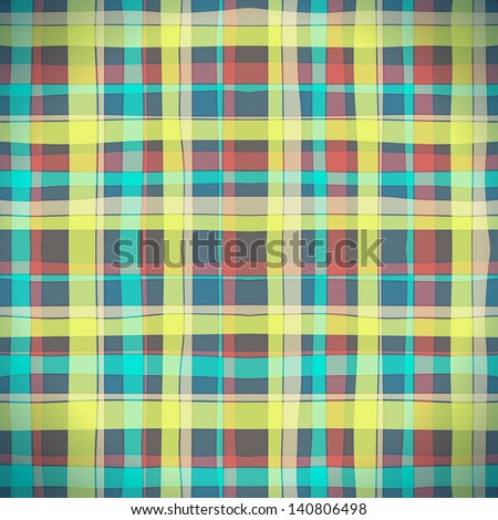 Background of Plaid Pattern, Vector Illustration EPS10, Contains Transparent Objects - stock vector