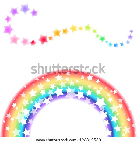 Background of rainbow and stars
