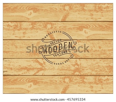 Background of realistic wooden planks. Tricolor, simple, usable design. The color of natural wood - stock vector