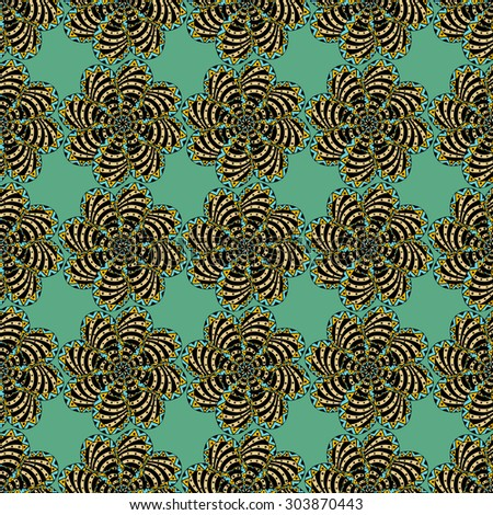 Background of seamless colored pattern. Vector Illustration