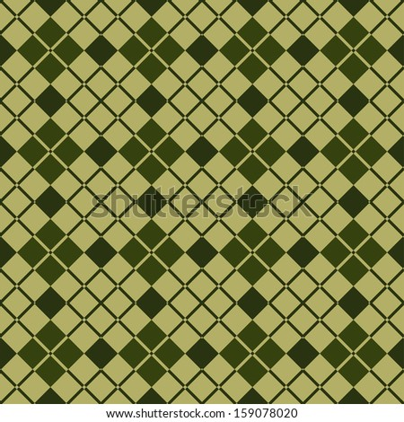 Background of Seamless Plaid Diagonal Pattern, Abstract Tartan Scottish Fabric, Vector Illustration