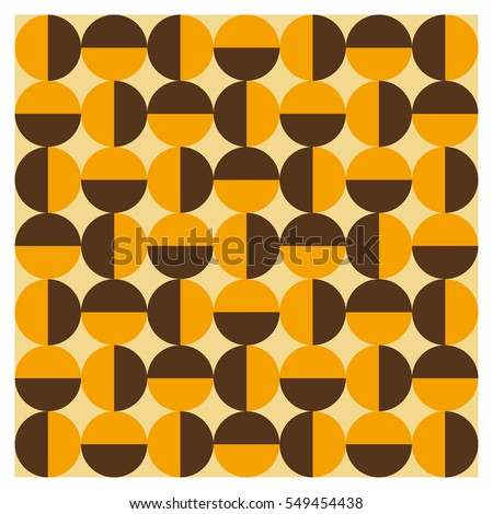 Background of seventies patterns on a wallpaper