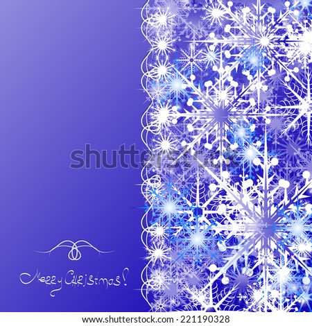 Background of snowflakes, background