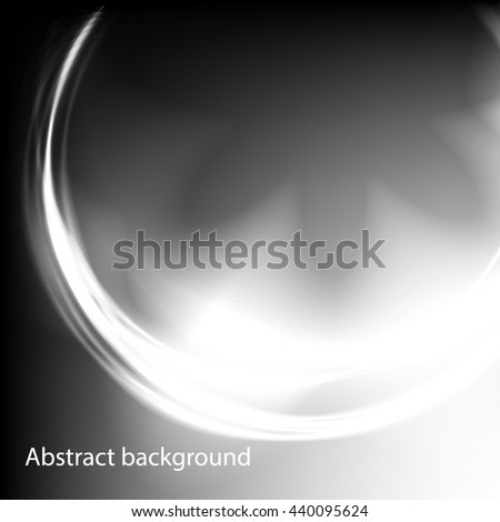 Background of the circles with the glow effect . Circles of light with a magical glow . Black and white abstract background . - stock vector