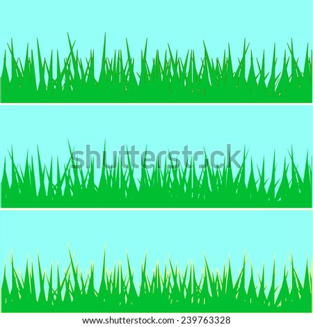 background of the green grass. vector illustration