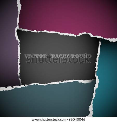 Background of torn paper.Vector eps10 - stock vector