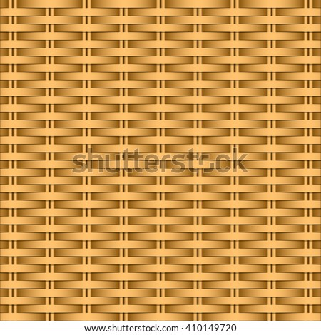 Background of twigs. Pattern willow wicker or rattan baskets. Vector Image. - stock vector