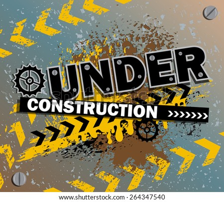 Background of Under Construction in vector - stock vector