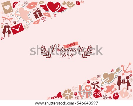 Background of Valentine's Day