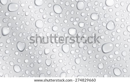 Background of water droplets on the surface in gray colors - stock vector