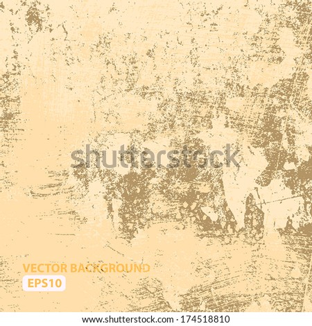 Background - old red brushed grunge texture. EPS10 vector. - stock vector