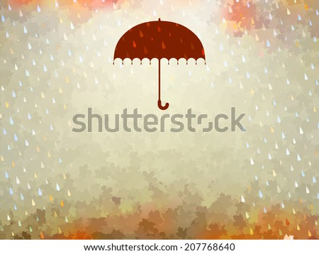 Background on a theme of autumn. And also includes EPS 10 vector - stock vector