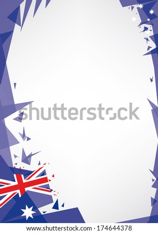 background origami of Australia. a design background (Origami style) for a very nice poster - stock vector