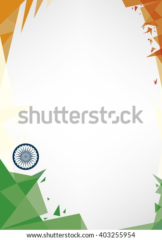 background origami of India.A design background (Origami style) for a very nice poster - stock vector